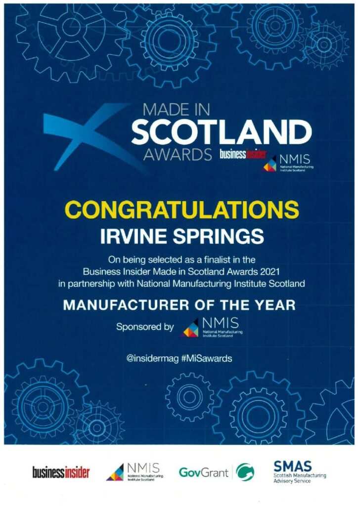 """""""Made in Scotland Manufacturer of the Year"""" Award"""